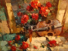 2591_70х61_Ю.Ю. Прядко_Натюрморт со скрипкой