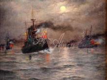 2602_47х48_А. К. Беггров - Морской бой