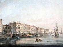 2603_55х38_А. К. Беггров - Вид дворцовой набережной