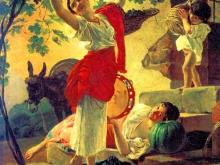 2613_50х42_К.П.Брюллов - Девушка, собирающая виноград в окрестностях Неаполя