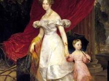 2617_80х56_К.П.Брюллов - Портрет великой княгини Елены Павловны с дочерью Марией. 1830