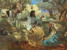 2072_70х43 Г.И.Семирадский - Христос у Марфы и Марии