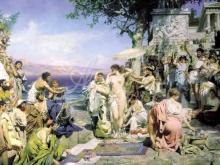 2433_70х35_Г. И. Семирадский - Фрина на празднике Посейдона в Элевсине
