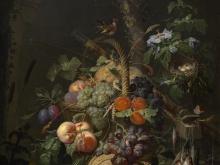 Шарден Жан-Батист Симеон. Натюрморт с фруктами, рыбой и гнездом