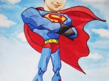 Шарж по фото в образе супермена