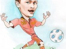 Шарж по фото сборной по футболу  (Кержаков)