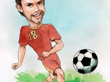 Шарж по фото сборной по футболу  (Жирков)