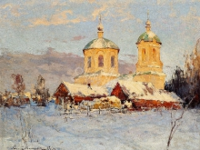 2331_70х53_А.Н.Шильдер - Зимний пейзаж с церковью