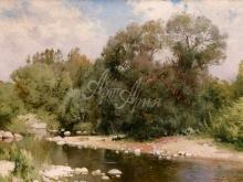 2334_50х33_А.Н.Шильдер - Река в солнечный день