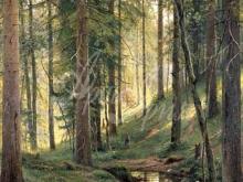 2404_И.И.Шишкин - Ручей в лесу