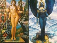 3043_30x30 А.А.Исачёв - Великие богини матери из цикла Четыре богини