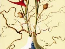 3147_80x55 Р.Веркерк - Натюрморт с китайской вазой, ракушками и цветами