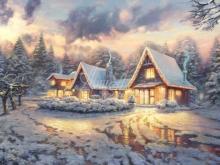 3205_100х66_Т. Кинкейд - Рождественский домик