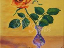 3210_60x39 Неизвестный художник - Розы в графине