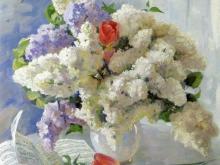 3224_60х60 В.Чуйков - Цветы от Штрауса