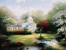 3239_90х65 Томас Кинкейд - Церковь на лугу