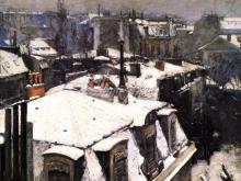 3255_71х57 Г. Кайботт - Крыши под снегом