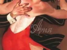 3538_70х50_Х. Мачадо - Женщина в красном платье