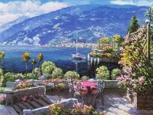 3564_60х48_Рене Биглер - Среднеземноморский пейзаж 2