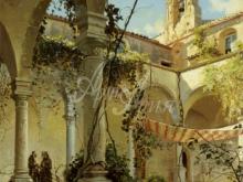 3595_70х47_П. М. Мёнстед - Монастырь Таормина. 1885г.