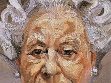3638_ 40х25  Люсьен Фрейд - Королева Елизавета II