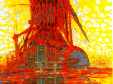 3661_50х39 Пит Мондриан - Ветряные мельницы в солнечном свете
