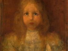 3667_50х41 Пит Мондриан - Портрет девочки с цветами, 1900-01