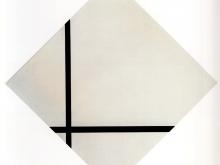 3677_50х51_Пит Мондриан -  Composition aux deux lignes Composition with two lignes, 1931