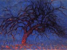 3688_60х41 Пит Мондриан -Красное дерево