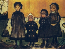 3741_50х36 Эдвард Мунк -Quatre filles aasgaardstrand, 1902