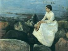 3778_50х39_Эдвард Мунк - nuit dt inger au bord de leau, 1889