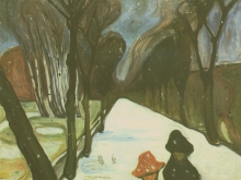 3779 50х40_Эдвард Мунк - alle dans un tourbillon de neige, 1906
