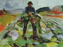 3790_60х46 Эдвард Мунк - homme dans un champs de choux, 1916