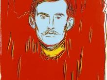 3805_50х35 Энди Уорхол - Автопортрет (после Мунка). Диптих, правая часть
