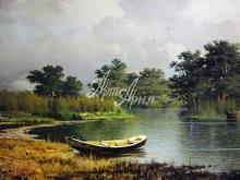 2048_70х41_Р.Г.Судковский - Берег реки.Лодка