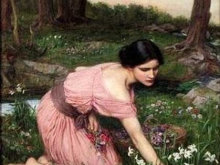 john-william-waterhouse-spring-spreads-one-green-lap-of-flowers