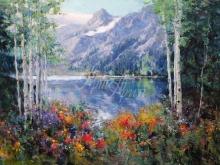 3583_60х40_Эрик Валлес - Озеро в горах