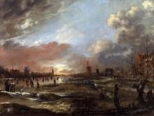 Ван дер Неер.Зимний пейзаж VI