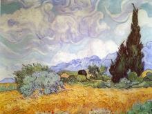 1088_55х42_Ван Гог - Пшеничное поле с кипарисами