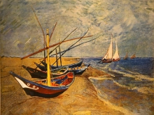 1133_60х47 Ван Гог - Рыбачьи лодки в Сент-Мари