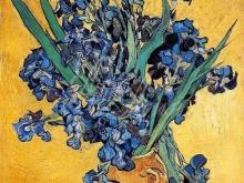 1161_70x54 В. Ван Гог - Ирисы в жёлтой вазе