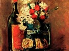 1169_44х34 Ван Гог - Ваза с гвоздиками и бутылка вина
