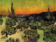 1704_70х62_В.Ван Гог_Пейзаж с парой, гуляющей при луне
