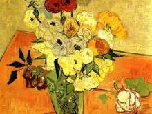 1707_75х74_В.Ван Гог_Японская ваза с розами и Анемонами