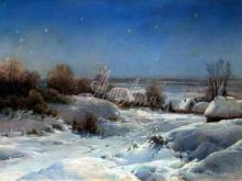 2545_55х40_И. А. Вельц - Украинская ночь. Зима