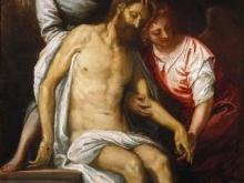Веронезе Паоло.Мертвый Христос, поддерживаемый ангелами