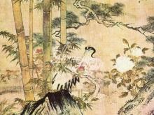 5040_56x50 Китайский пейзаж с пеликаном
