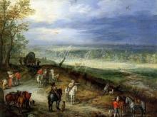 1200_60х47_Ян Брейгель (старший) - Пейзаж с путниками