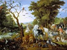 1203_80х50_Ян Брейгель (старший) - Ной собирает животных для ковчега