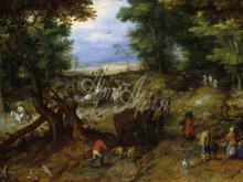 1588_100х55_Ян Брейгель (старший) - Лесная дорога с путниками
